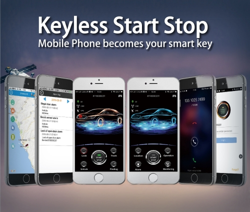 2019 mobile GPS immobilizer car ignition start button remote key