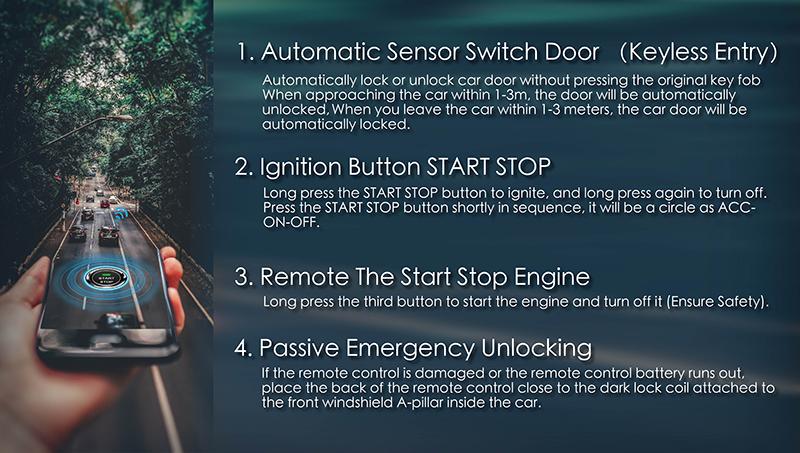 Remote Car Starter Energine Start Stop System With