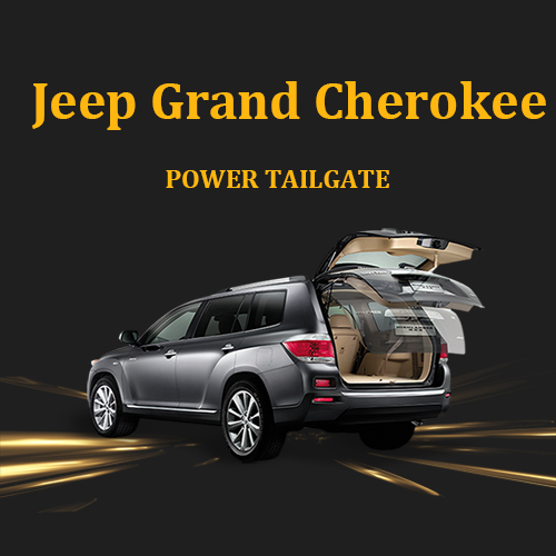 Automotive aftermarked hands free power liftgate with foot sensor for Jeep Grand Cherokee
