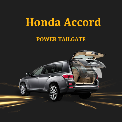 Honda Accord electric tailgate lift system with remote control and anti-pinch function