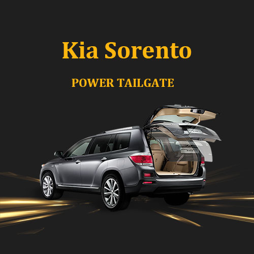 Kia Sorento electric tailgate lift system with multiple functions and kick sensor