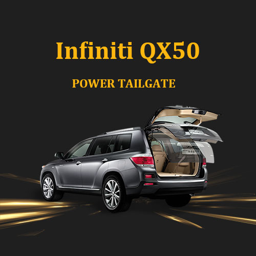 Infiniti new kick-activated tailgate provides hands free opening and closing for Infiniti QX50