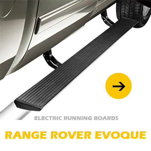 Waterproof retractable aluminum alloy automatic power car electric -powered running board for Range Rover Evoque