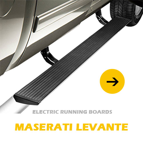 LED lights option waterproof automatic electrical running board side step for Maserati Levante