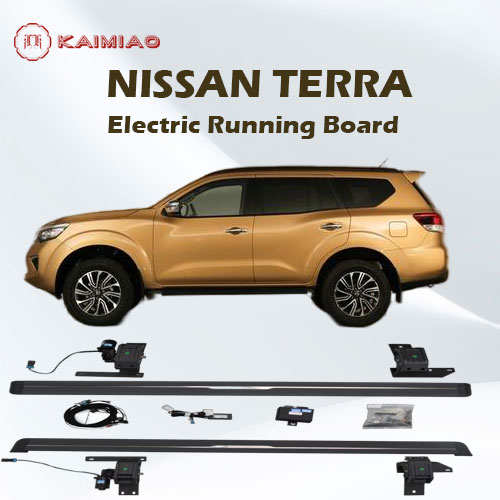 Factory directly sell electric footboard step with LED Light and blue tooth function optional for Nissan Terra